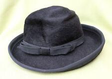 Cappello donna elegante nero vintage La Familiare Mod. Balladem ladies black hat