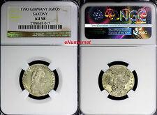 German States SAXONY-ALBERTINE Silver 1790 2 Groschen NGC AU58 KM# 1020