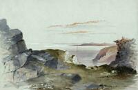 CAROLINE ANN BRERETON  Watercolour Painting LANDSCAPE FROM GREAT ORME WALES 1853