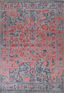 Vegetable Dye Wool/ Silk Ziegler Oriental Floral Area Rug Hand-knotted 9'x12'