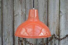 Large superb dusky orange ceiling light factory lamp shade light pendant LOSR4