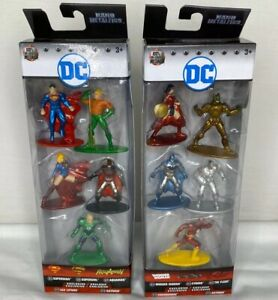 Nano Metalfigs DC 5 Lot Of 2: Pack A And Pack B Complete Set *New & Sealed*