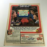 VTG Retro 1984 Kool-Aid Soft Drink Mix FREE Kool-Aid Man Video Game Ad Coupon