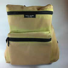 Kate Spade tan nylon backpack