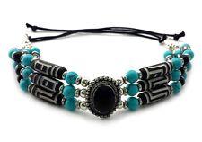 Handmade Traditional Native American Style Buffalo Bone Hairpipe Choker Necklace