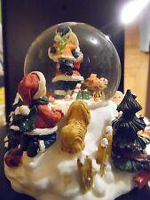 Christmas Dimensional Snowglobe Christmas Tree, Santa, Snowman, White Christmas