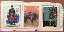 6 Poster Stamps Cinderellas ~ World's Soldiers ~ France Russia Moose Jaw Canada