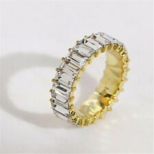 Rainbow ring thin line micro pave cz eternity 9 colors stack 2019 Hot Classic