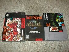 Secret of Evermore (Super Nintendo SNES, 1995) Complete w/ Poster GOOD