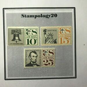 US Stamps-Airmail-# C54, C55, C56-(1959 Airmail)-MH-Free Shipping