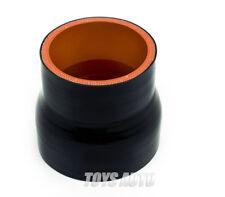 "Rev9 3"" - 4"" Inch 76-102mm STRAIGHT REDUCER SILICONE HOSE BLACK"
