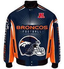 Denver Broncos Men's NFL G-III Burst Twill Jacket - Adult Medium Free Ship