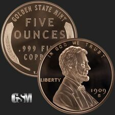 BIG 5oz Coin • 1909 Lincoln Design • Copper Bullion