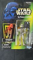 Star Wars Power of the Force SANDTROOPER (a) Green Card Holo 1997 Collection 1