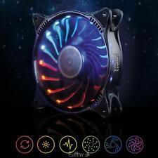 12V 120mm 18 LED 3 Pin Quiet Adjustable RGB Light PC Case CPU Cooler Cooling Fan