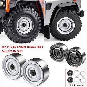 "Metal 1.9"" Beadlock Wheel Rim for 1/10 RC Crawler Traxxas TRX-4 Axial SCX10 CC01"