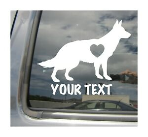 German Shepherd Dog Love Custom Name Text Cars Laptop Vinyl Decal Sticker 01131