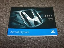 2005 Honda Accord Hybrid Owner Owner's Manual User Guide 4 Door 3.0 V6
