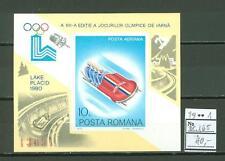 MTA1164 Romania 1979 MNH s/s Olympic Sport Bobsleigh CV 40 eur