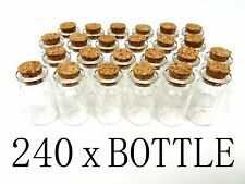 "240 1.5"" Mini Glass Bottles Cork Tops Message Weddings Wish Jewelry Party Favor"