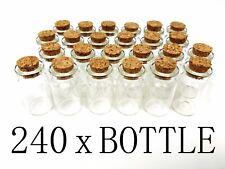240 1.5 Inch Mini Glass Bottles Cork Tops Message Weddings Wish Jewelry Party