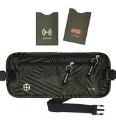 Travel Money Belt RFID Security Wallet Waist Pack Hidden Pocket Safe Unisex