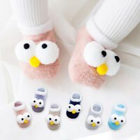 Newborn Baby Boy Girl Cartoon Big Eyes Anti Slip Cute Slipper Floor Socks Shoes