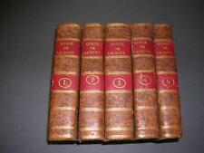 Le Comte de Valmont, ou les égaremens de la raison 1779 gravures 5 vol. complet