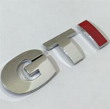 NEW GTI Badge CHROME~RED For VW GOLF POLO LUPO PASSAT MK4 MK5 MK6 TDI GT TURBO