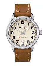 Timex TW2R22700, Men's Easy Reader, Brown Leather Watch,  TW2R227009J