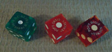 MIXED LOT OF 3 HOTEL CASINO (POP'S OASIS & EXCALIBUR) red & green dice ~ NV