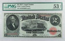1917 $2 Legal Tender Note Teehee Burke FR#57 ... PMG AU-53 EPQ