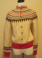 Vintage William Schmidt Nordic Handmade Wool Cardigan Norwegian Sweater Womens