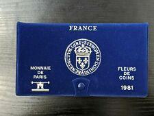 SUPERBE COFFRET MONNAIES  FDC   1981 - MONNAIE DE PARIS -  COMPLET NEUF  !!