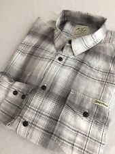 Lucky Brand Button-Front Shirt White, Black & Gray Plaid Size XL
