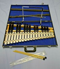 Aluminum 30 Note Glockenspiel Mint Condition With Music Stand/Hard Case/Mallets