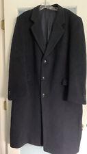 Vintage  Men's Jacket OverCoat 100% Cashmere Navy Blue