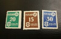 Set of Estonian Stamps 3 stamps mint condition Estland