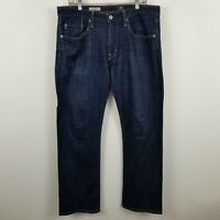 Adriano Goldschmied The Protege Straight Leg Men's Dark Wash Blue Jeans Sz 34x31
