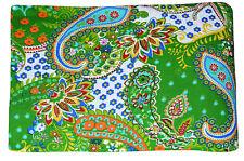 5 yard Indian Cotton Hand Block Sanganeri Printed Handmade Cotton Fabric Natural