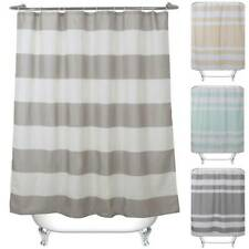 Modern Striped Bathroom Bathing Shower Curtain With Rings Hooks Home Hotel Decor