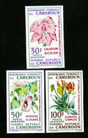 Cameroon Stamps # C119-21 VF Imperf flowers OG NH