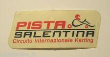 VECCHIO ADESIVO AUTO / Old Sticker PISTA SALENTINA KARTING (cm 10 x 4)
