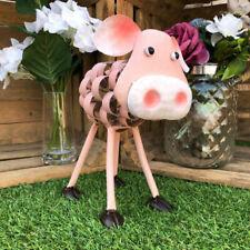 Large Rusted PIG Sign Metal Home Garden Ornament Decoration sculpture figure