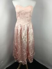 63984966 Vtg 80s Pink Puffy Roses Bubble Lace Party Evening Gown Prom Dress 13/14  UNION