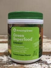 Amazing Grass Green Superfood Energy Lemon Lime 7.4 oz (210g) - Exp 11/2020