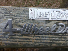 Willys wagon Jeep Truck and/or 4 wheel drive emblem badges scripts **