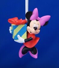 Minnie Mouse Gift Present Christmas Ornament Resin Disney 2012 Figurine