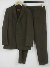 HUGO BOSS ALBO/HAGO RED TAB Men's (EU) 48 or ~M-L 100% Wool Striped Suit 25154_S
