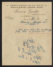 """CHAMOUX (73) FROMAGERIE de LA TOUR / BEURRE & FROMAGES """"François GARDET"""" en 1929"""